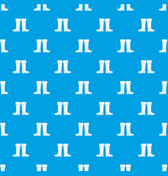 Rubber boots pattern seamless blue vector