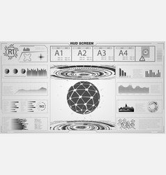 set of black and white infographic elements vector image