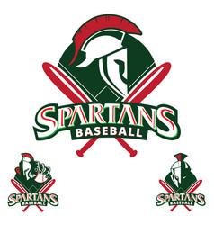 spartans baseball insignia vector image