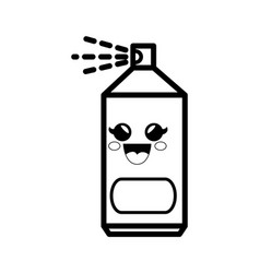 Spray can cartoon smiley vector