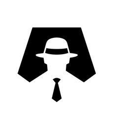 Spy symbol icon anonymous vector