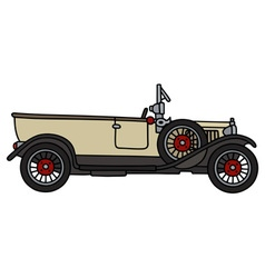 Vintage cream convertible vector