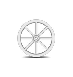 Vintage wooden wheel with shadow vector