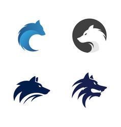 Wolf head template vector