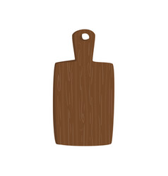 wooden cutting board cartoon vector image