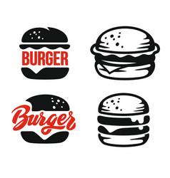 burger logo emblem vector image vector image