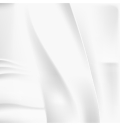 Creased white cloth material template vector