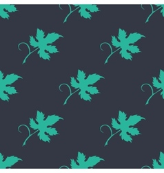 Floral seamless pattern with a leaf vector image vector image