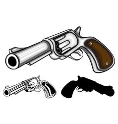 revolvers set vector image vector image