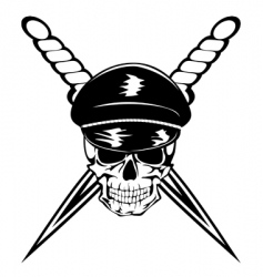 skull and dagger vector image vector image