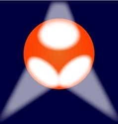 Spotlit Globe vector image