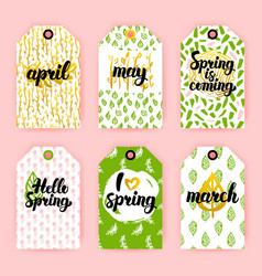 spring trendy gift labels vector image