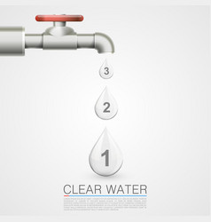 tap with water drops info vector image