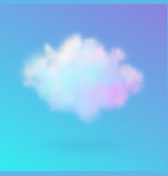 transparent colored cloud on the sky realistic vector image vector image