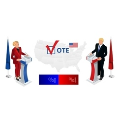 Us Election 2016 infographic Democrat Republican vector image