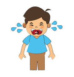 child injured and crying vector image