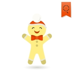 Gingerbread Man Colorful vector image
