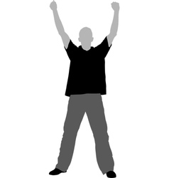 hands up vector image vector image
