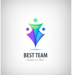 logo design template Concept for family vector image vector image