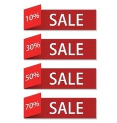 modern sale discount set vector image vector image