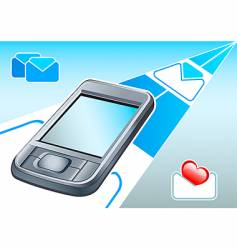 PDA email device vector image
