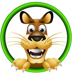 skinny cute cartoon lion vector image vector image
