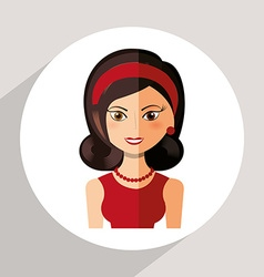 avatar female vector image vector image