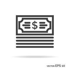 bundle money outline icon black color vector image vector image