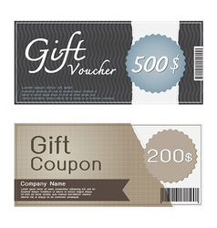 Gift Voucher and Coupon Templates Design vector image vector image