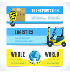 Logistic horizontal banners vector image vector image
