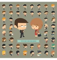 Set of 50 business men and women vector image vector image