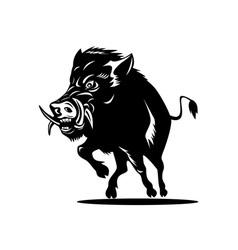 Wild pig boar vector