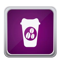 purple emblem coffee espresso icon vector image vector image