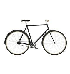 Vintage mens bicycle isolated on white background vector image