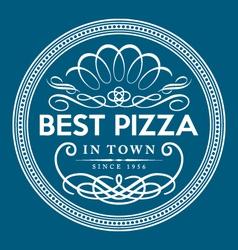 vintage pizza logo template vector image vector image