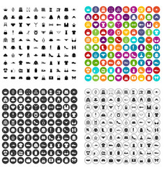 100 sewing icons set variant vector