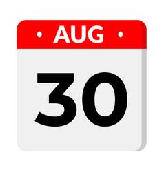 30 august calendar icon vector