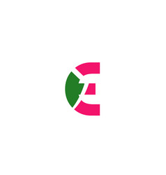 abstract icon logo for letter e vector image