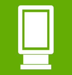 advertising signs icon green vector image