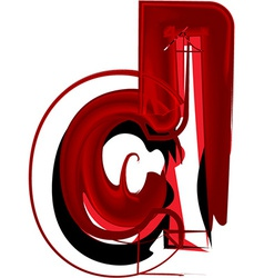 Artistic font letter d vector