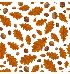 Autumn oak leaves Seamless background vector