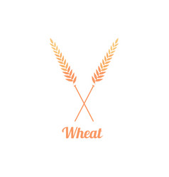 Bakery logo badge with wheat vector