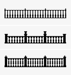 balustrade vector image