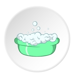 Bath for baby icon cartoon style vector