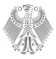 Black and white coat of arms of germany vector