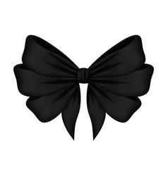 Black bow ribbon decorative icon vector