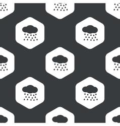 Black hexagon rain pattern vector