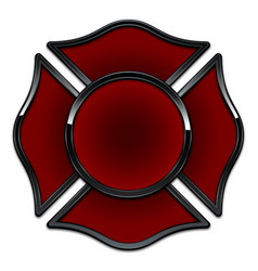 Blank fire department logo base red and black vector