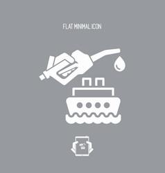 Boat fuel - icon vector
