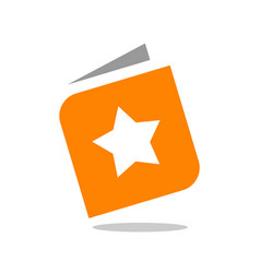 book and star logo design star book icon vector image